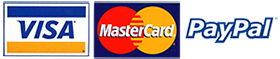 Pay by Mastercard, VISA and PayPal